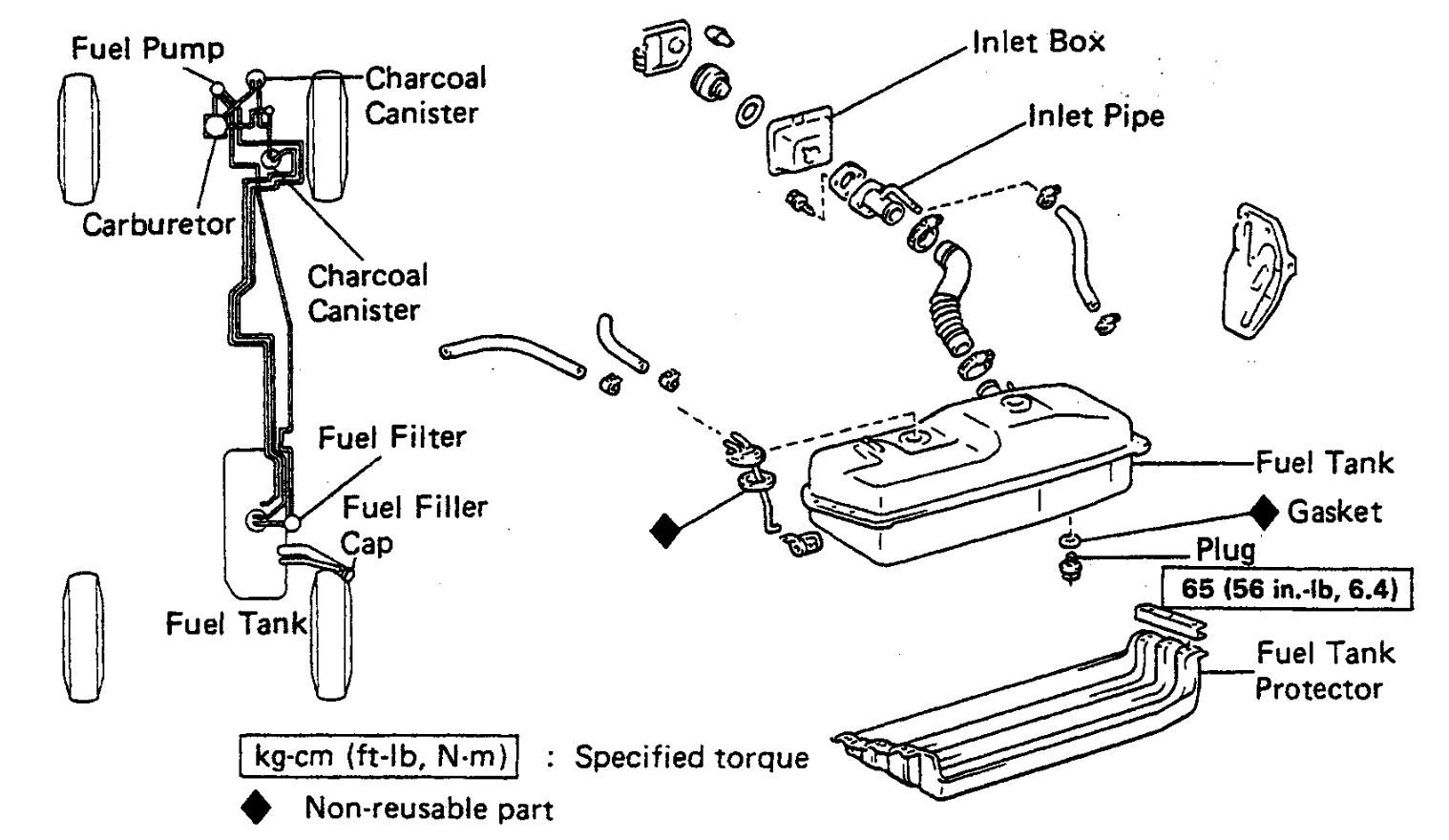 1990 toyota pickup fuel filter location