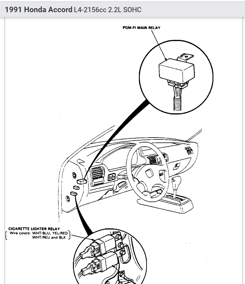30 94 Honda Accord Fuse Box Diagram Wiring Diagram FULL HD