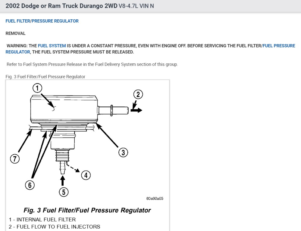 medium resolution of fuel filter where is the fuel filter on this vehicle durango fuel filter 4
