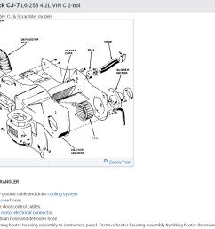 jeep cj7 heater hose diagram wiring diagram schheater core replacement i have 84 cj7 with 258 [ 1247 x 926 Pixel ]