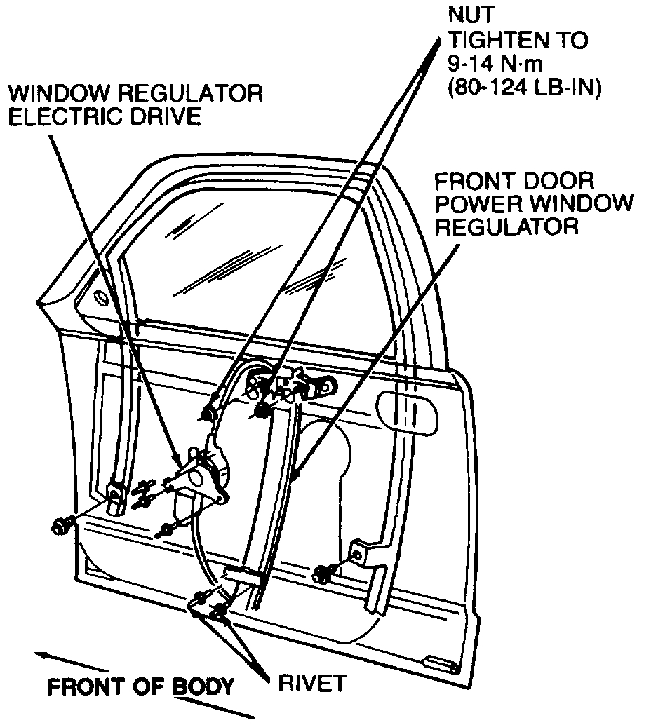 Window Cable on a Window Motor Installation