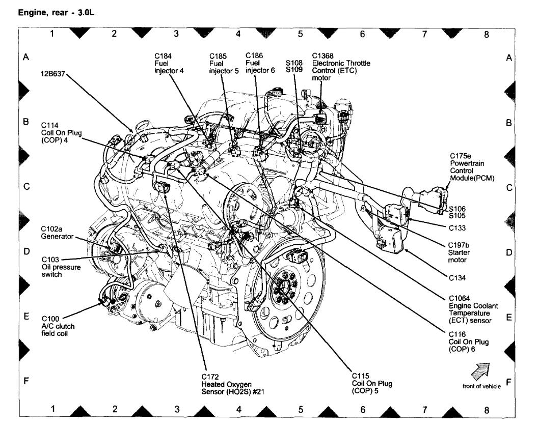 ford engine coolant temperature sensor