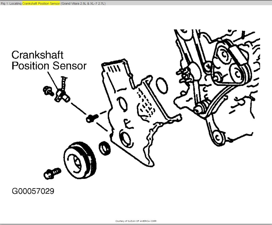 Crankshaft Position Sensor Location Crankshaft Position