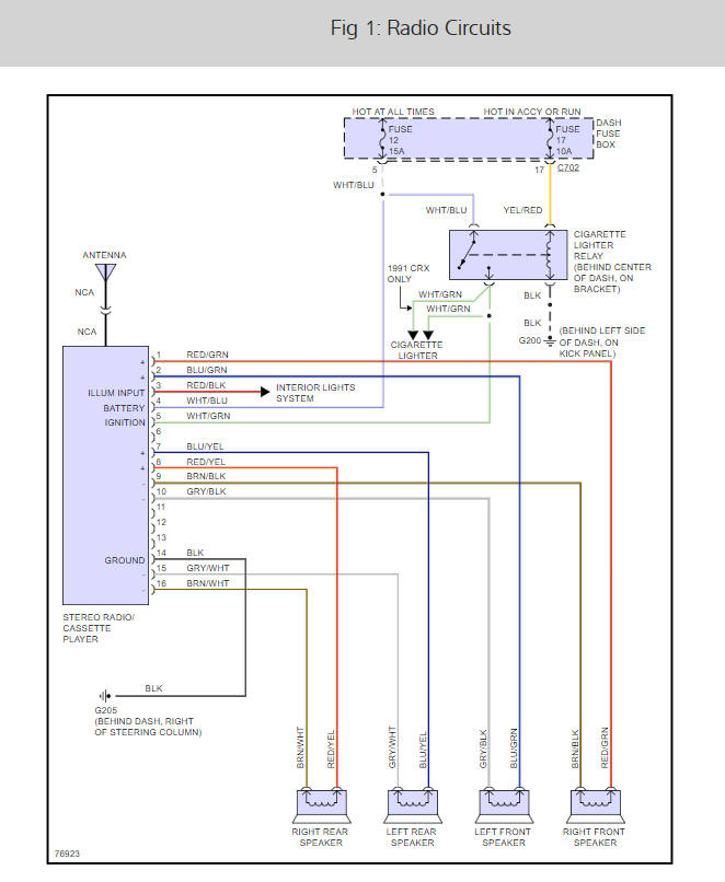 radio wiring diagrams please will replacing the stock head