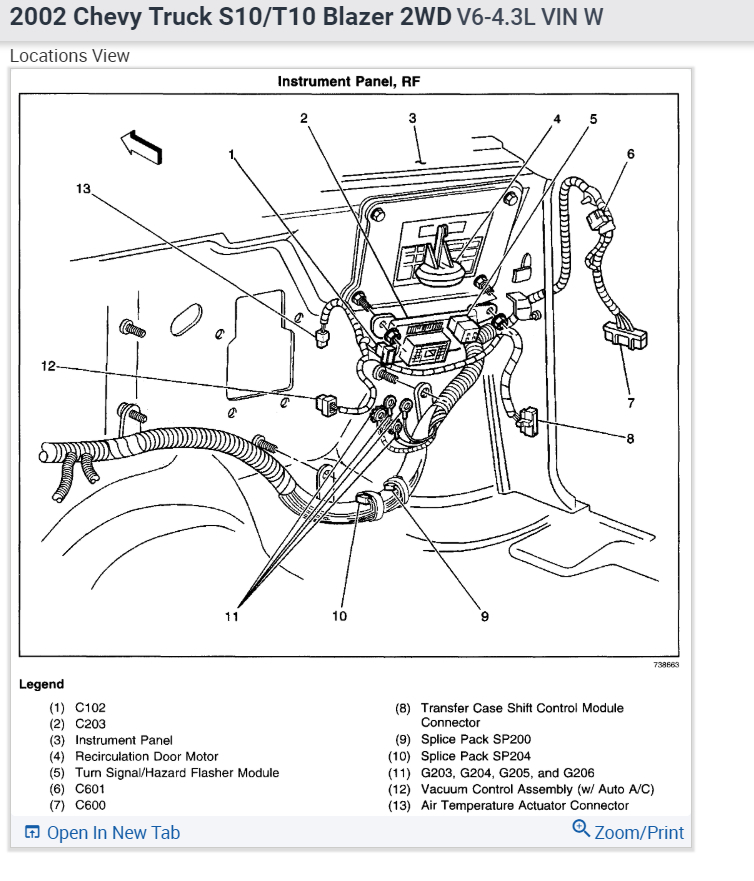 1996 Chevy S10 Turn Signal Flasher Location