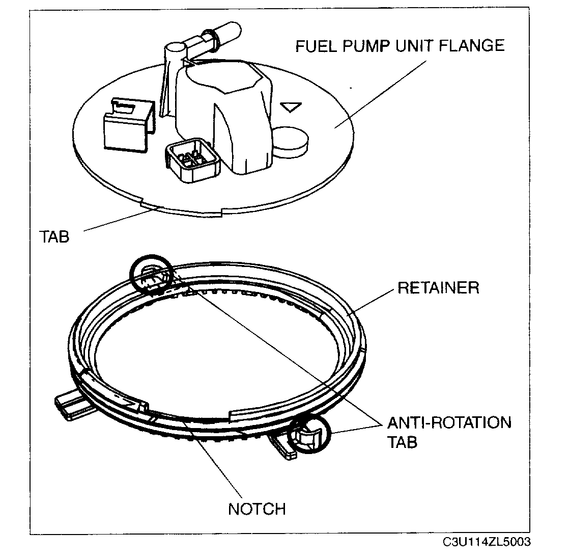 Fuel Filter Location: Location of the Fuel Filter.