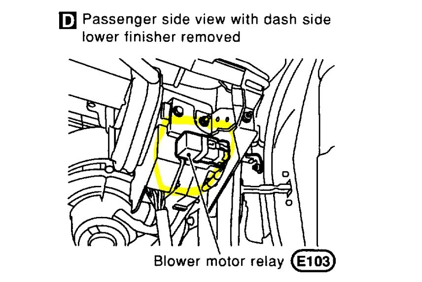 Heater Blower Motor Location: I Replaced the Resistor but