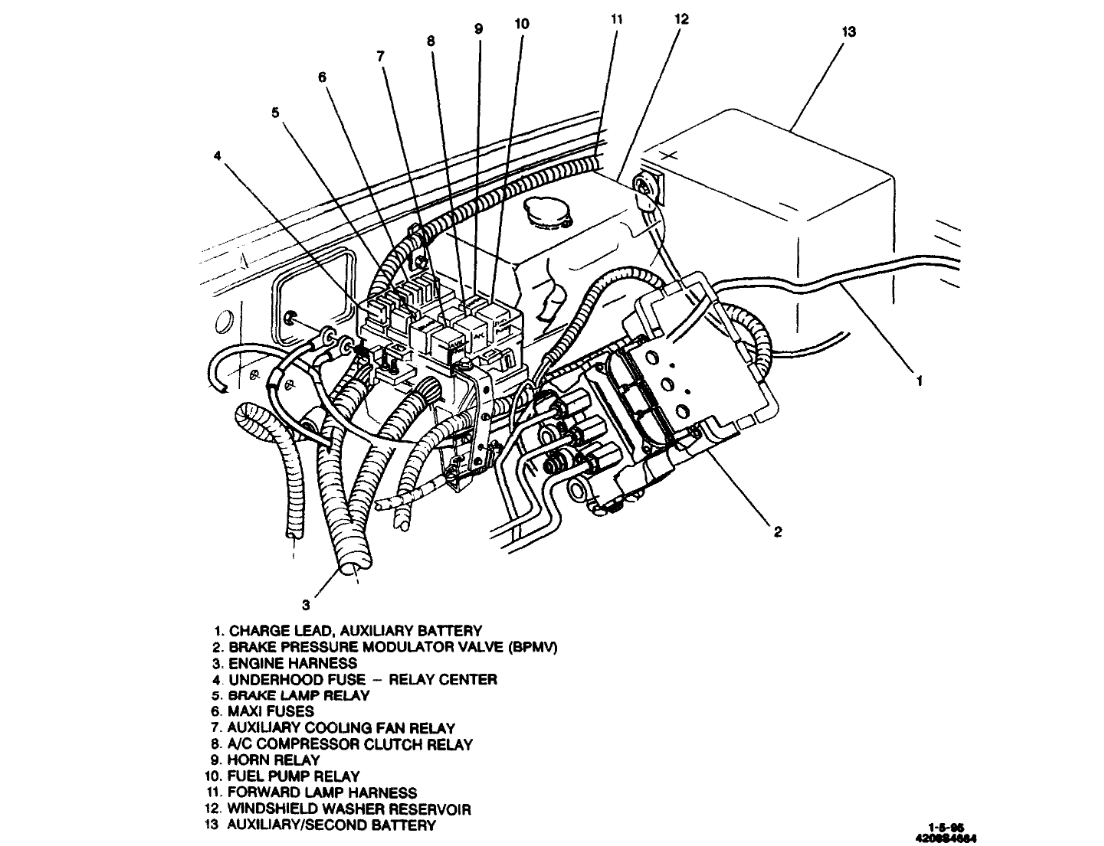 Fuel Pump Relay: Location of Fuel Pump Relay on 1995 1/2