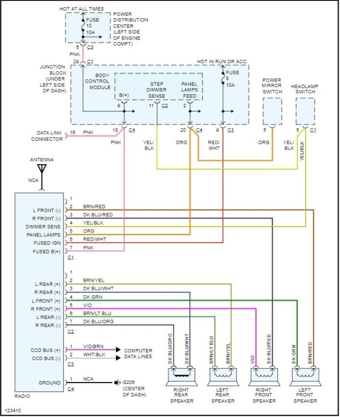 2002 chrysler town and country stereo wiring diagram