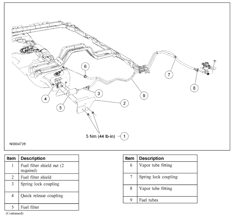 2002 explorer fuel filter change