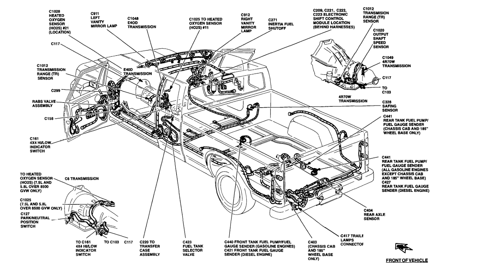 Ford E350 Van Fuel System Diagram