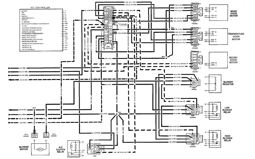 medium resolution of 1991 chevy s10 wiring diagram hvac wiring diagram centre 1991 chevy s10 wiring diagram hvac