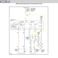 2003 Chevy Venture Power Window Wiring Diagram Four Wire Trailer Stuck Down Changed Thumb