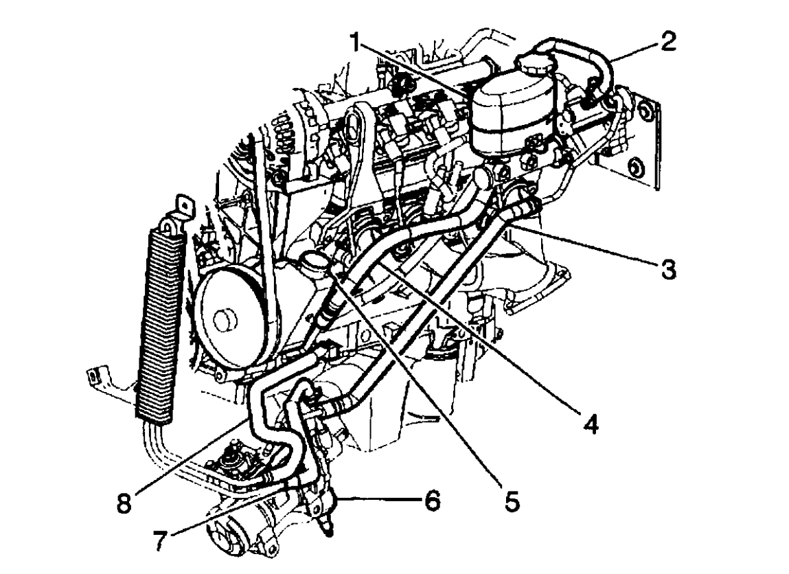 Power Steering Hose Diagrams Is There A Diagram For The