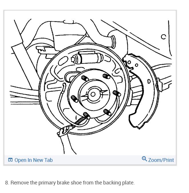 Rear Brake Shoe Replacement: Looking for Rear Drum Brake