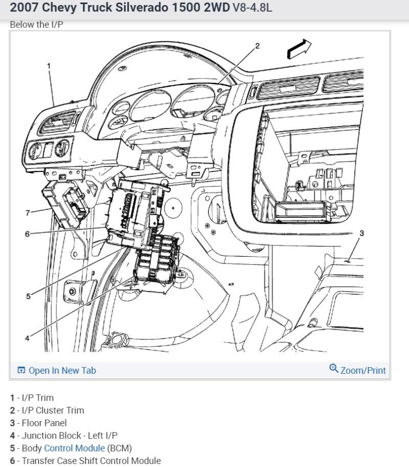99 Tahoe Interior Light Control Module ...