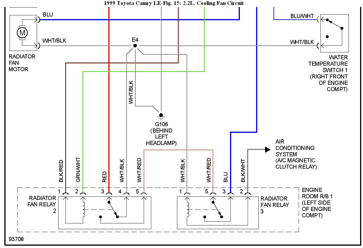 hight resolution of  rad fan wiring diagram toyota camry on