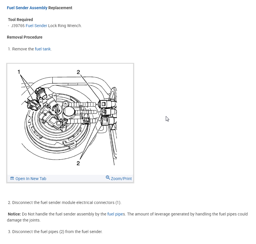 Fuel Pump Replacement: Hello, I Am Looking for the
