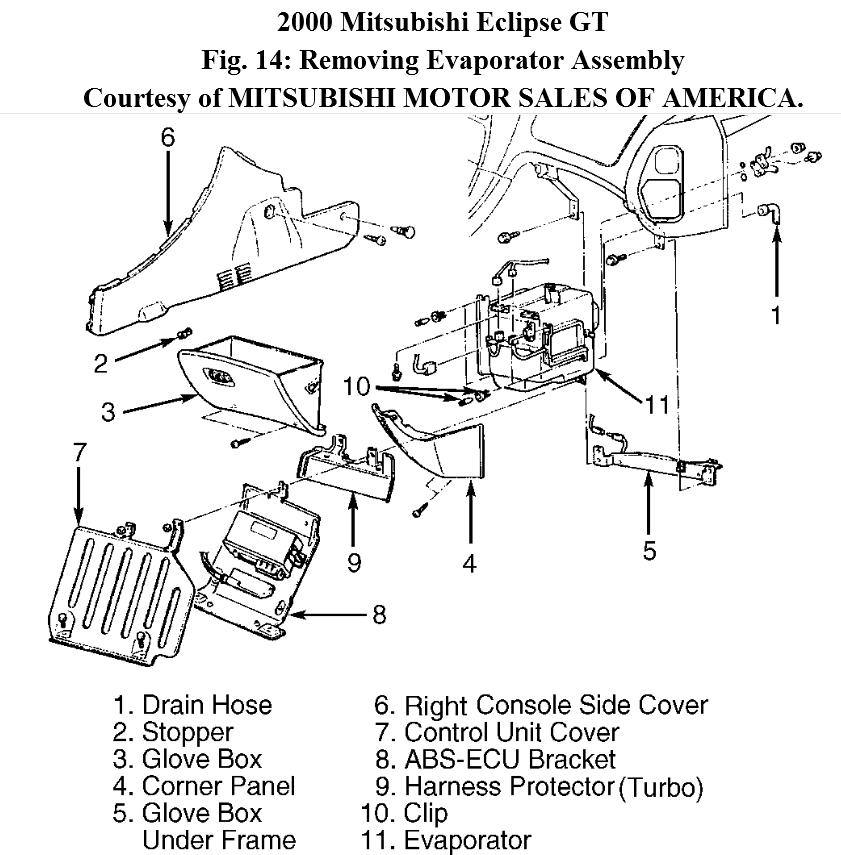 1999 Mitsubishi Eclipse Front Suspension Diagram
