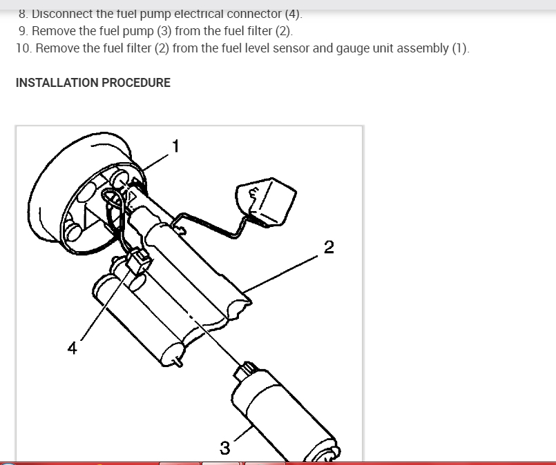 Fuel System: Need to Know if There Is S Fuel Filter That