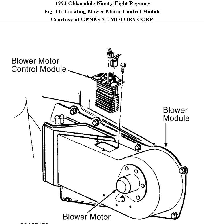 Oldsmobile Fan Blower Troubleshooting Help: Ok, I Have a