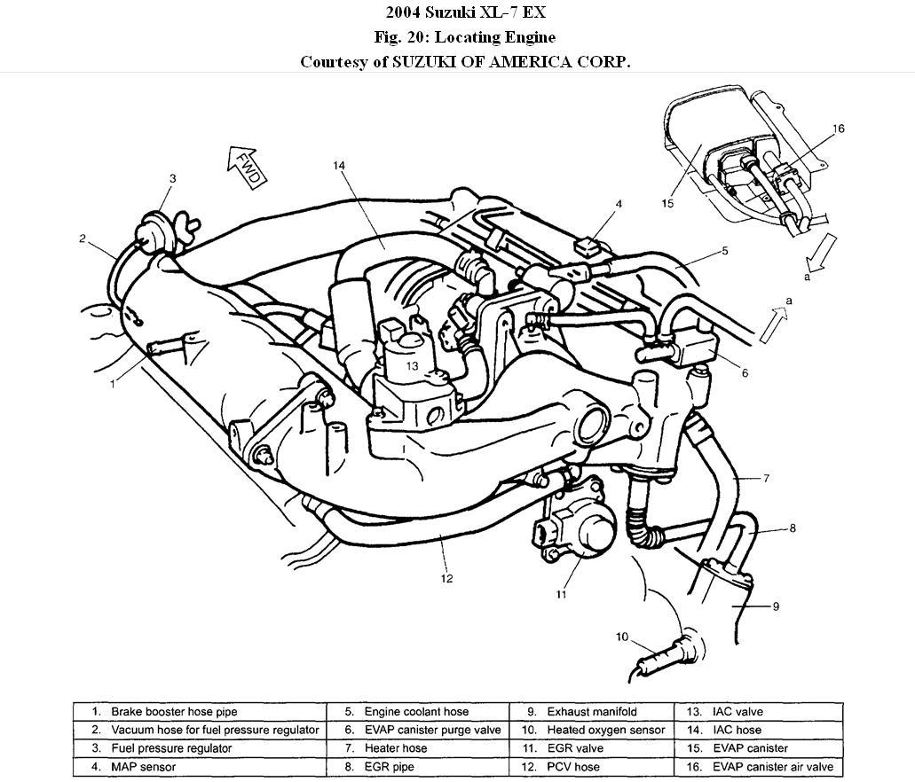 diagram of engine of suzuki xl7