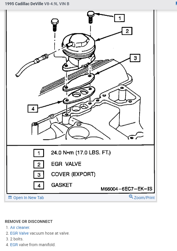 EGR Vacuum Diagram: I Just Recently Replaced the EGR Valve