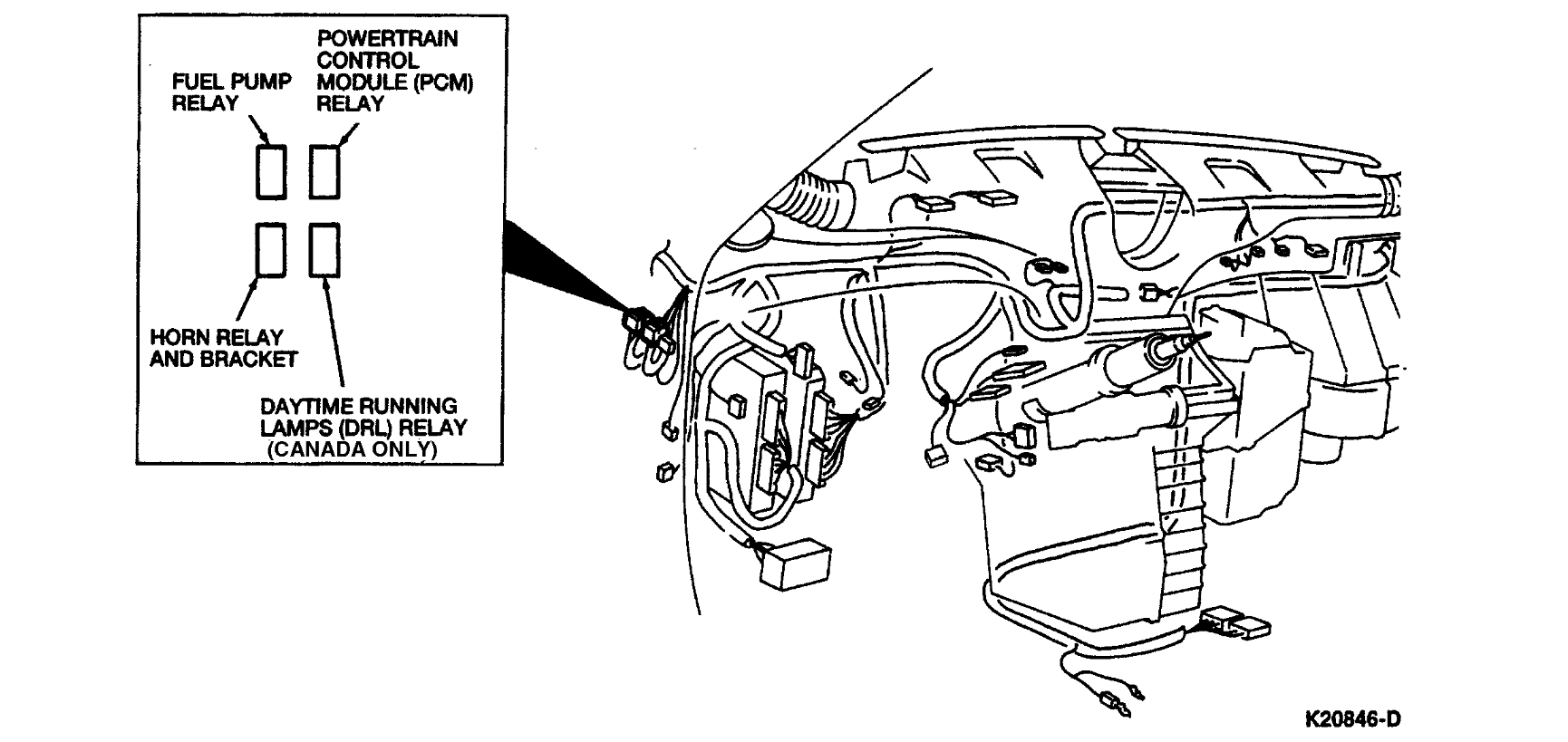 Fuel Pump Relay: the Ford Instruction Manual States That