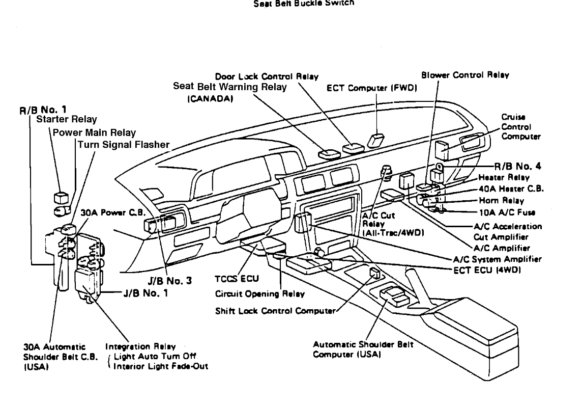 Relay Fuel Pump Location Needed Where Is The Fuel Pump