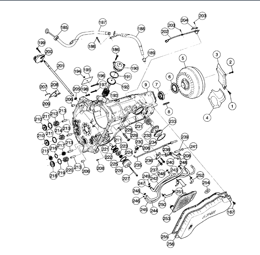 TRANSMISSION ASSEMBLY DIAGRAMS: a Diagram of How the