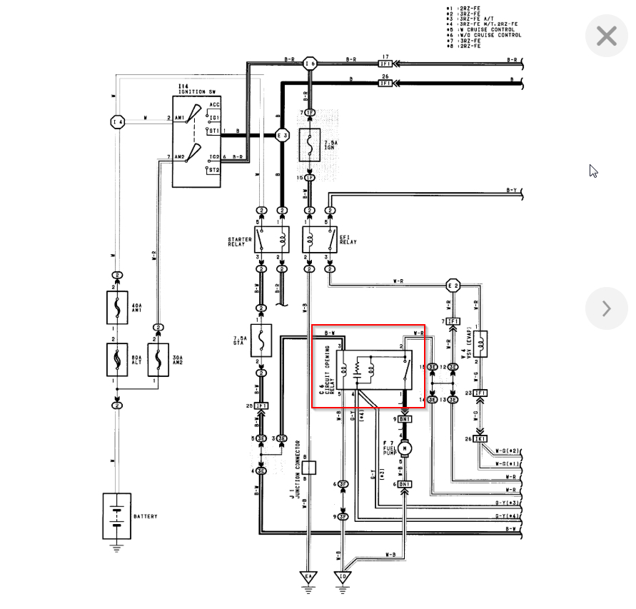 Fuel Pump Power, Circuit Opening Relay Location Needed