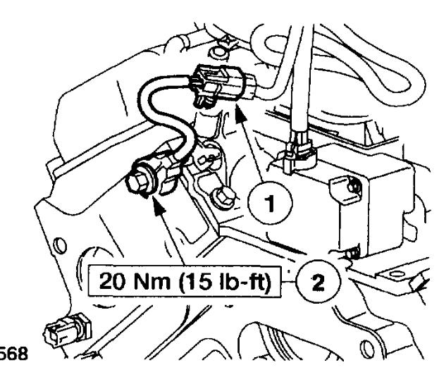 Knock Sensor Location: Engine Mechanical Problem 6 Cyl Two