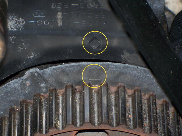 Need A Diagram Of The Markings On The Timing Belt15202530