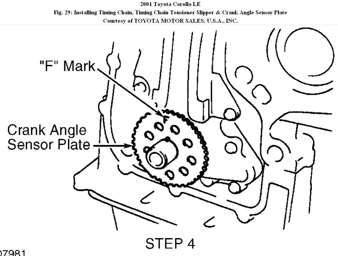 Timing chain diagram how to replace a timing chain timing chain original 2001 toyota corolla