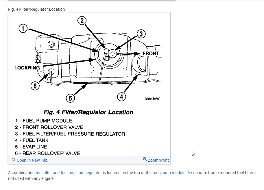 Fuel Filter Location?: I Have the Vehicle Listed Above I