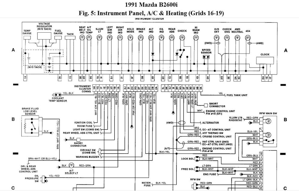 medium resolution of 92 mazda b2600 stereo wiring schematic 92 mazda truck 89 mazda b2600 wiring diagram mazda