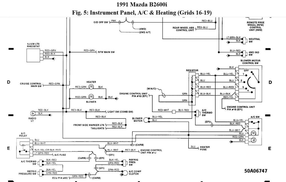 medium resolution of 1993 mazda b2600i wiring diagram