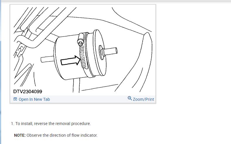 Fuel Filter Location?: Engine Starts Briefly, Stalls, Then
