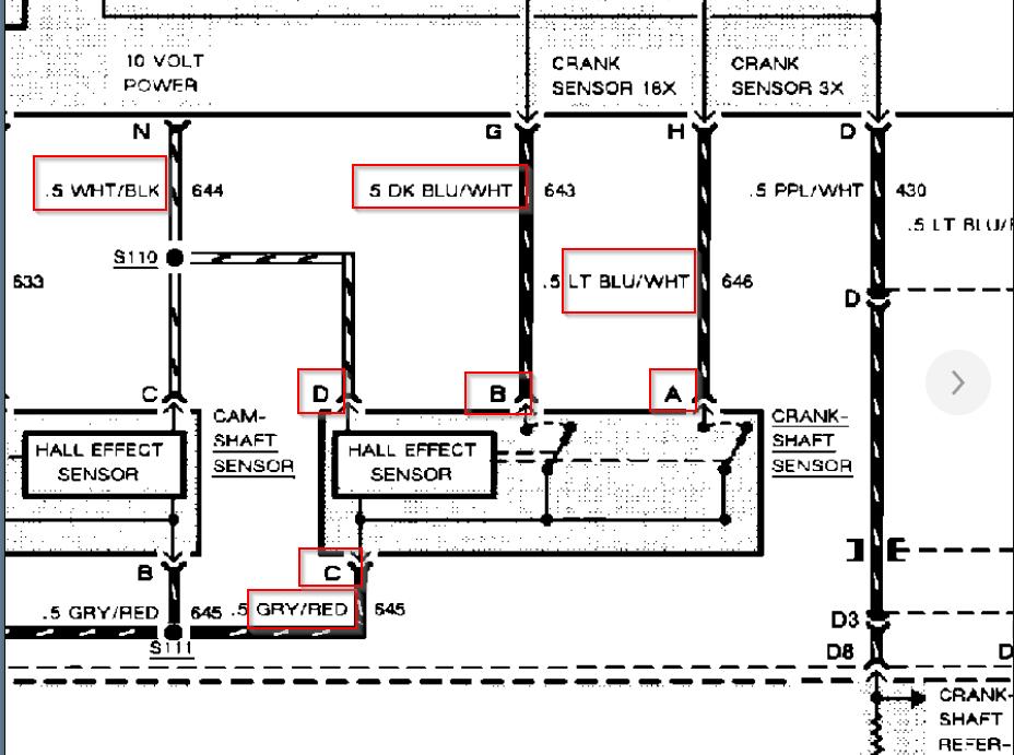 Crank Sensor Plug Diagram: I've the Car Listed Above That