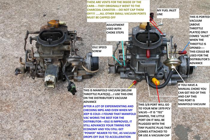 Amc 258 Distributor Wiring Diagram Inconsistent Curb Idle And Low Power At Hi Rpms