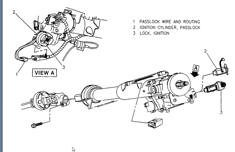 Ignition Switch Actuator Installation: to Reinstall
