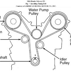 2007 Honda Pilot Serpentine Belt Diagram 2005 Ford Escape Trailer Wiring Timing Replacement From