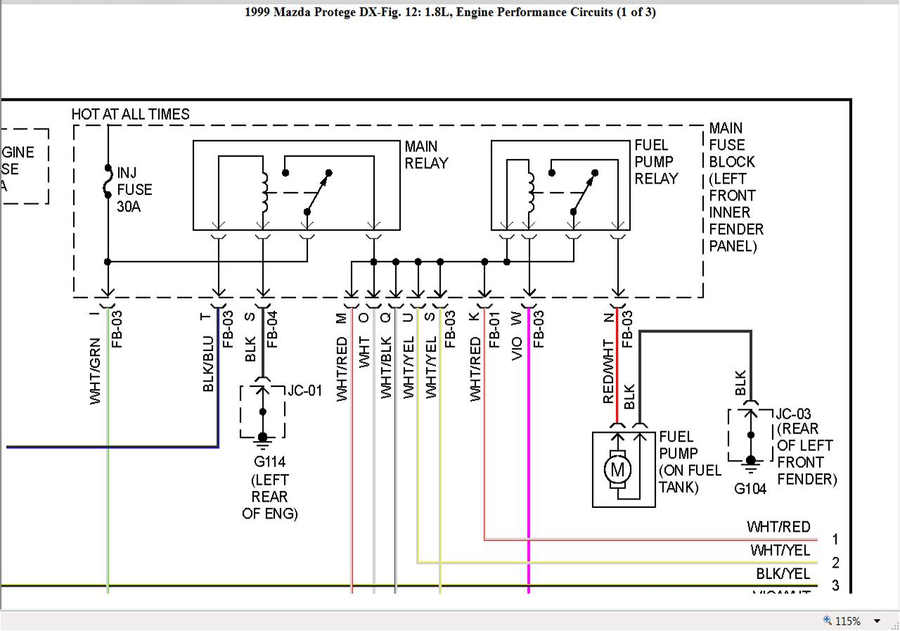 hight resolution of 1997 mazda 626 fuel pump wiring diagram wiring diagrams 1997 mazda 626 fuel pump wiring diagram