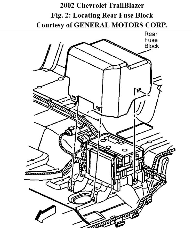 2002 Chevy Trailblazer Rear Fuse Box Diagram Under Seat