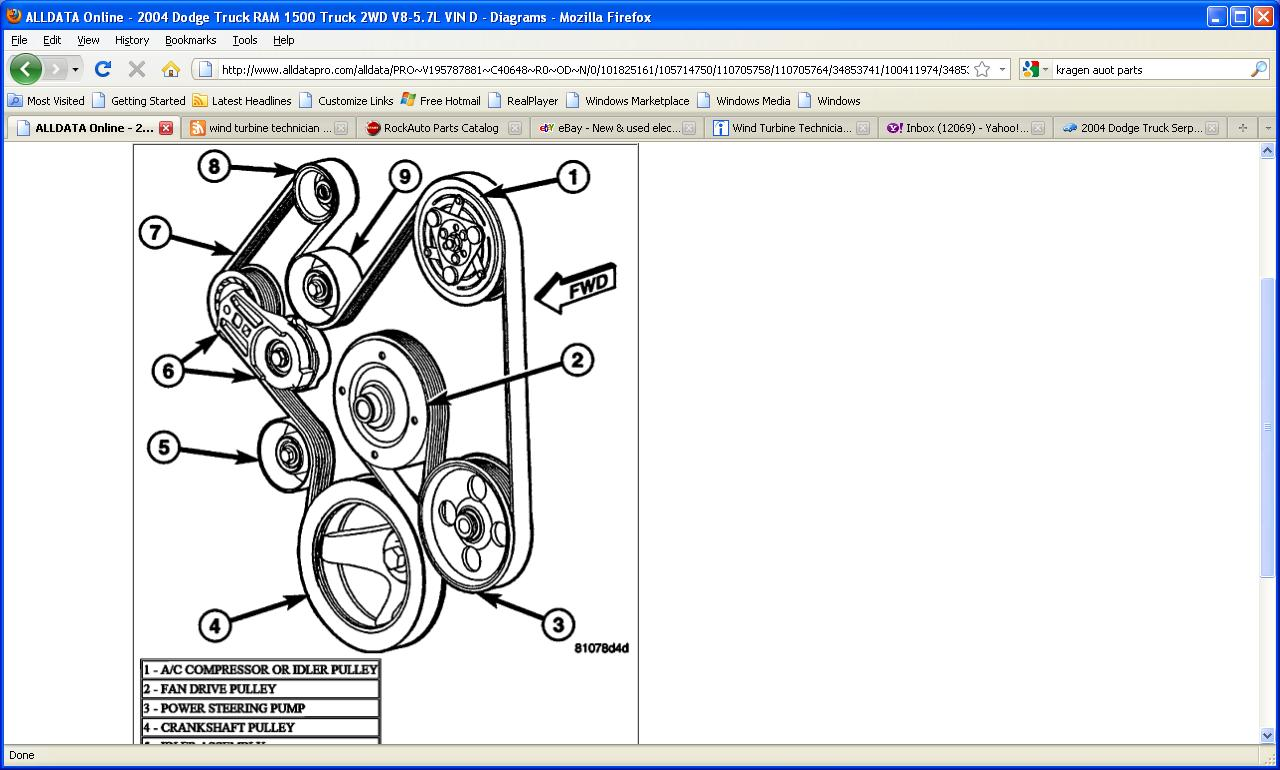 hight resolution of 2011 dodge ram 2500 serpentine belt diagram