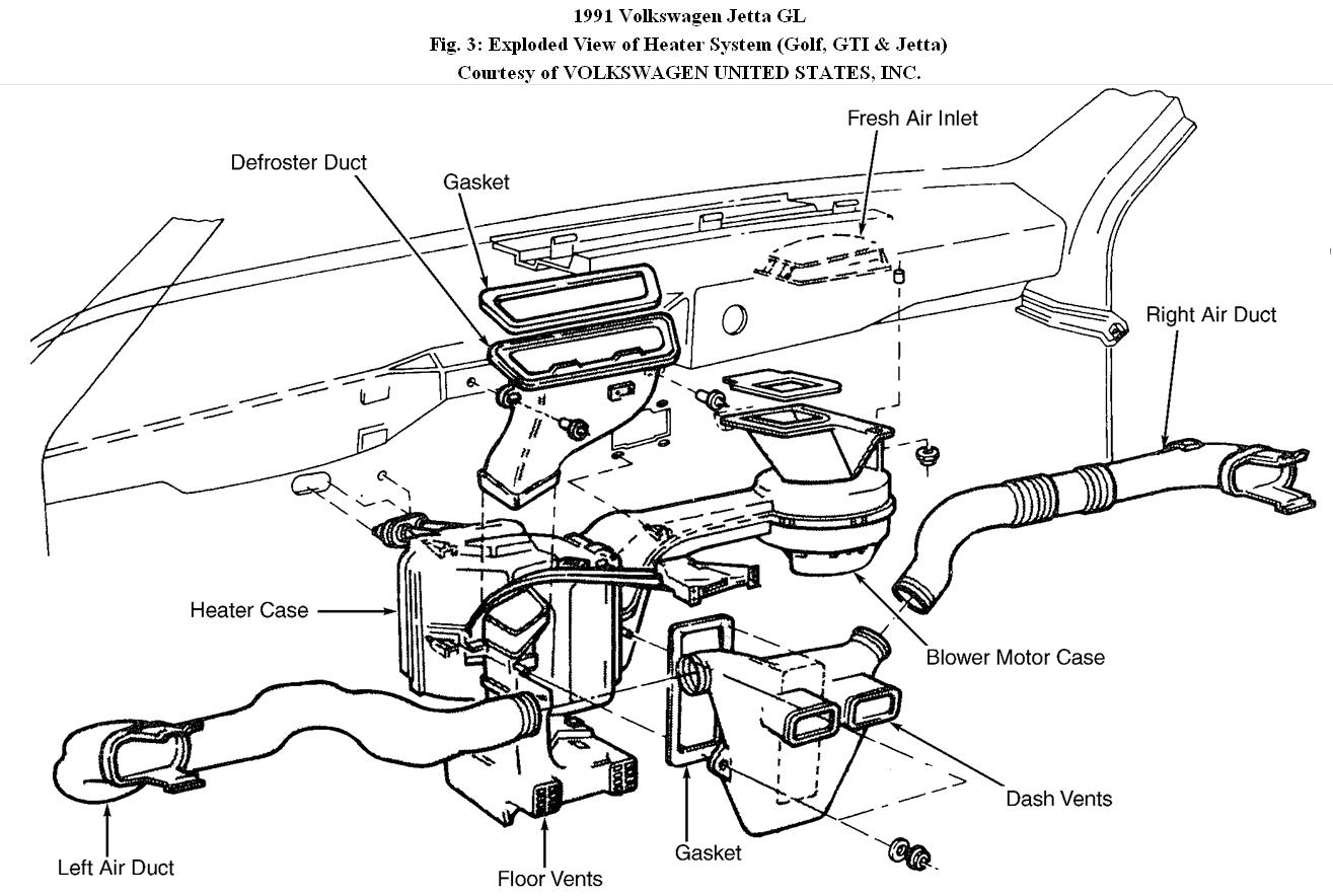 volkswagen heater hose diagram