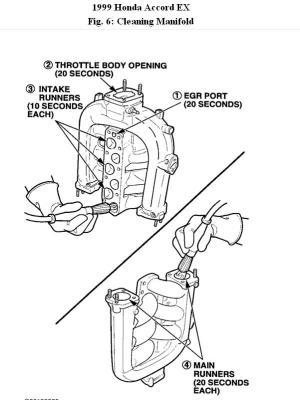 1999 Honda Accord Upper Intake Manifold Diagram: Engine