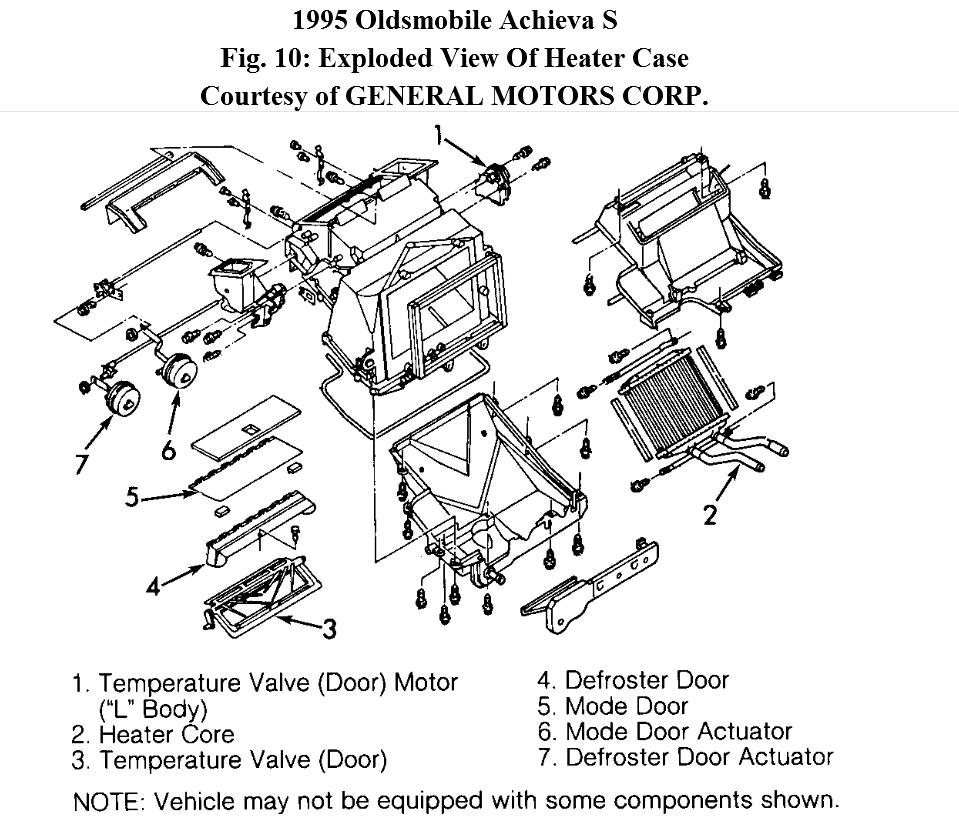 Service manual [1998 Oldsmobile Intrigue Heater Core