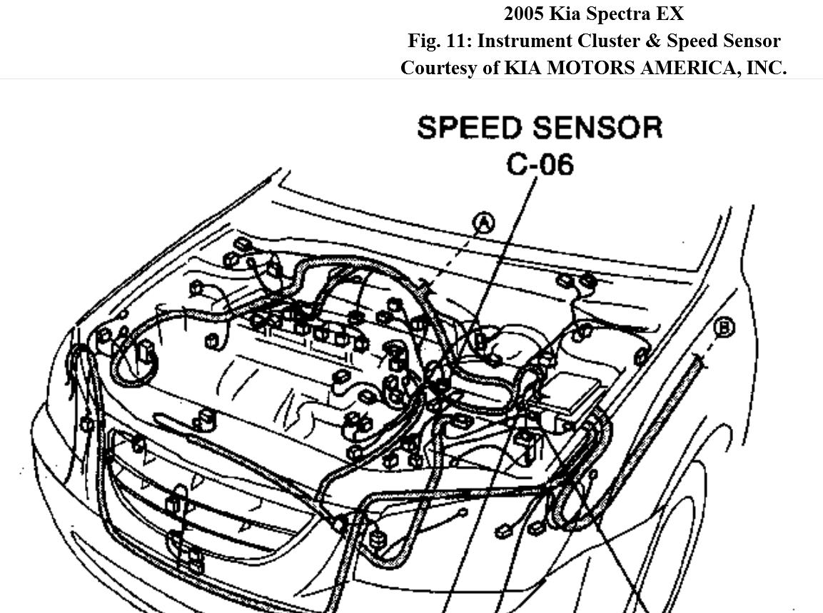 Vehicle Speed Sensor Kia Spectra Front Wheel Drive