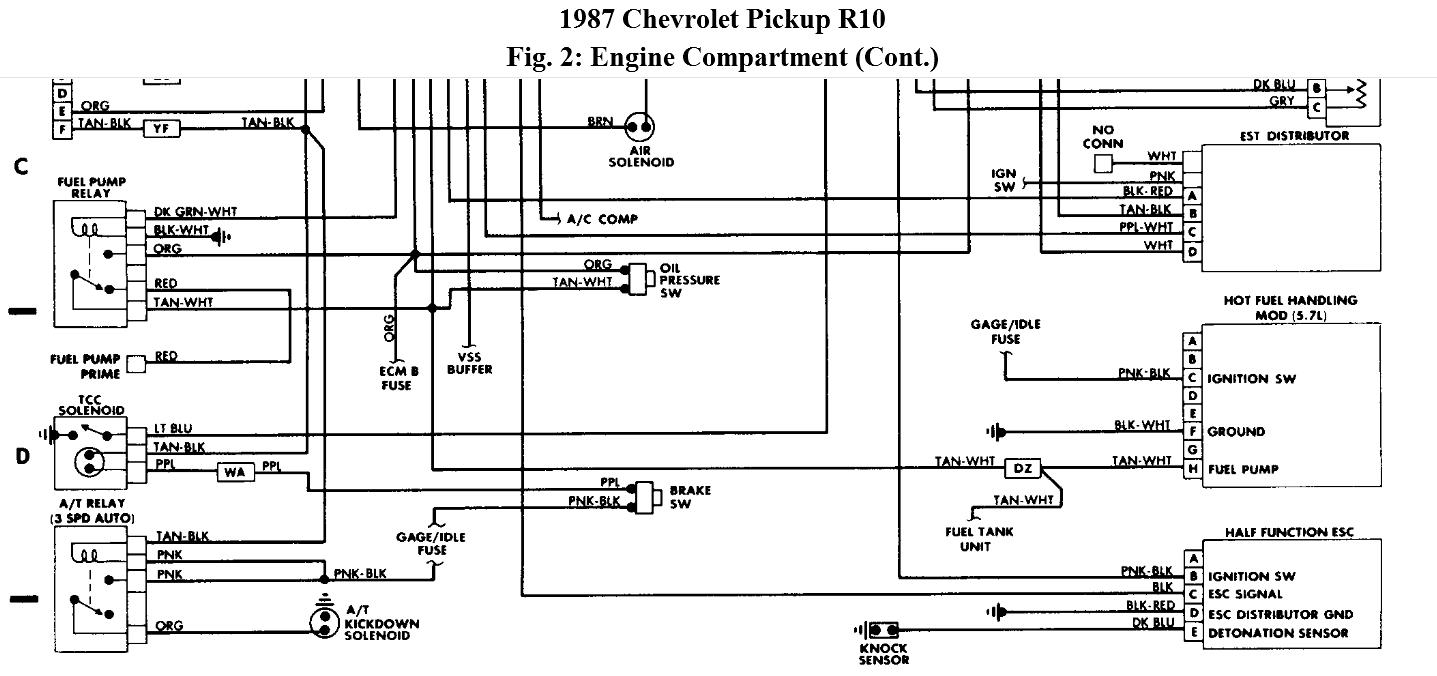 Wiring Diagram On 1987 Chevy Truck Fuel Pump Wiring